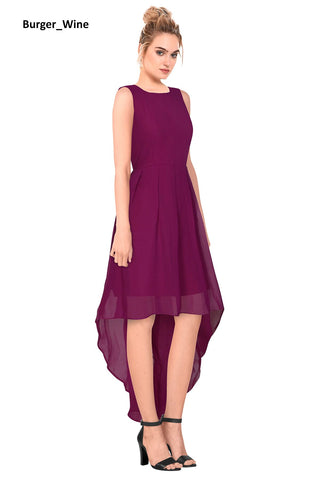 Image of Burger Maroon Skater Dress
