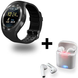 MULTI FUNCTIONAL SMARTWATCH + 1 Pair of Bluetooth HBQI7 Headset (FREE)