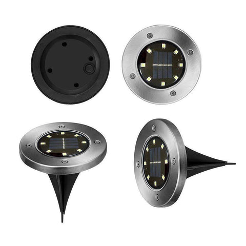 Image of Combo 8-LED Solar powered Ground Lights (Pack of 4)