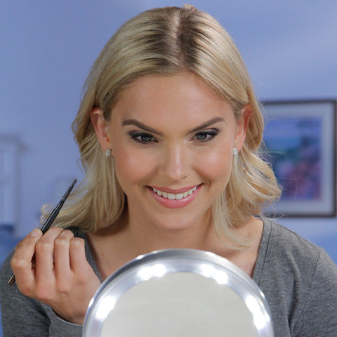 PURSE SIZE LED MAGNIFYING MAKEUP MIRROR PLUS