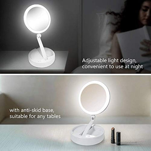 Image of PURSE SIZE LED MAGNIFYING MAKEUP MIRROR PLUS