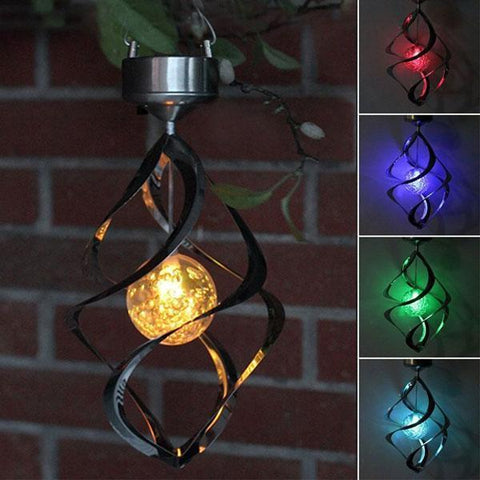 British Solar Wind Chime Lights