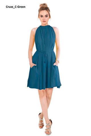 Image of Cruze Green Skater Dress