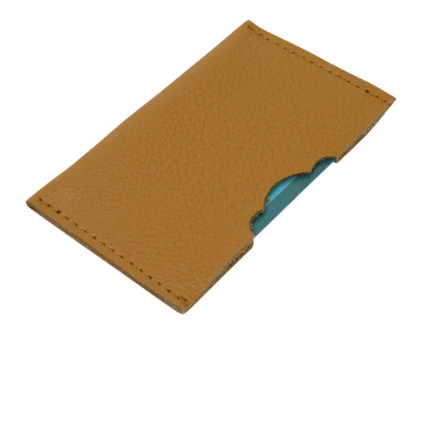 Leather accessories credit card holder on a white background