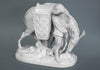 White Porcelaine Figurine - Boy with mule