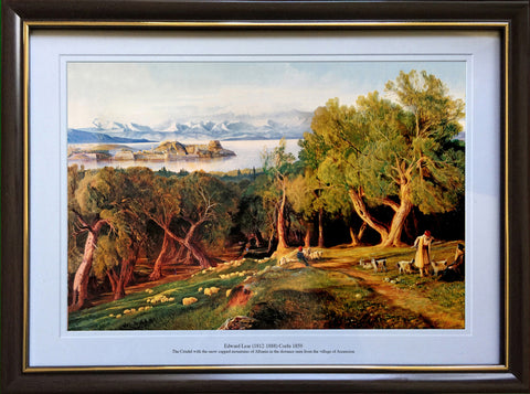 Edward Lear -The Citadel with the snow capped mountains of Albania in the distance seen from the village of Ascension
