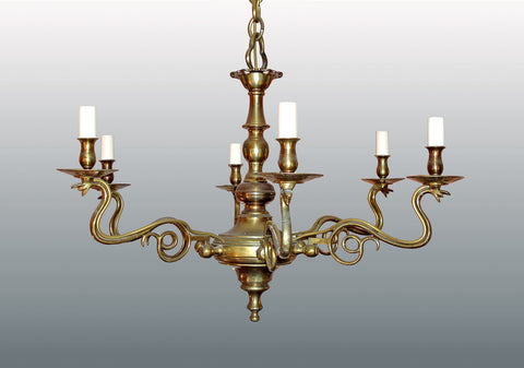 An Elegant Six Arm Chandelier
