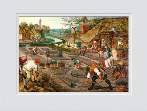 Abel Grimmer (1570 - c1620)  Spring after Pieter Bruegel- Beautiful Facsimile Print on Etreme Quality Art Paper