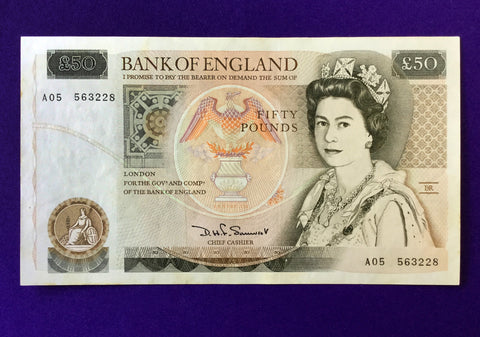 £50 Somerset Banknote - A05 563228 UNC - SOLD