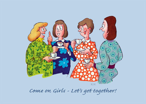 Social 1 - Girls Get Together - Pack of 5 postcards