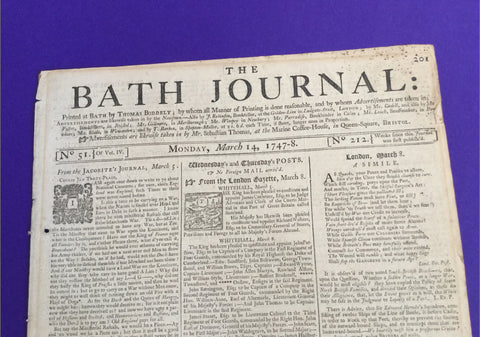 Bath Journal 1747