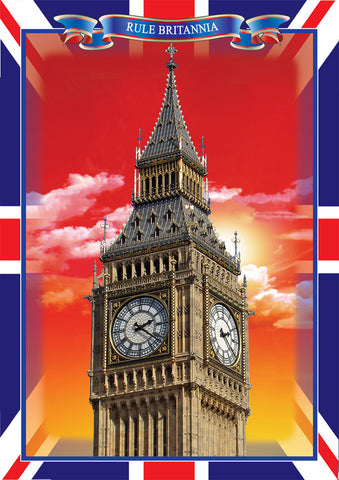 ---- Big Ben with Red Sky ---- Pack of 5 postcards