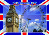--- Big Ben and the London Eye --- Pack of 5 postcards