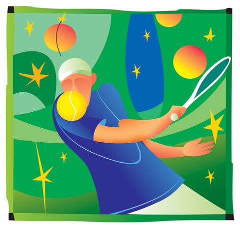 Ken Reilly - Tennis - Greetings Card