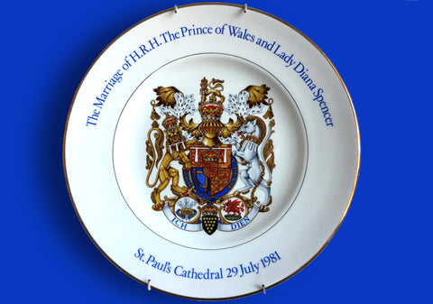 Princess Diana and the Prince of Wales commemorative plate
