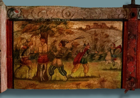 Sicilian Donkey Cart Panel 19th Century - SOLD