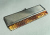 Silver Metal Retractable Tortoise Shell Comb