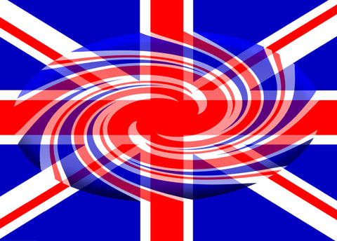 - Union Jack Vortex Postcard - 5 Pack
