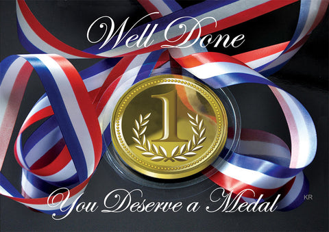 You Deserve a Medal - 5 postcards