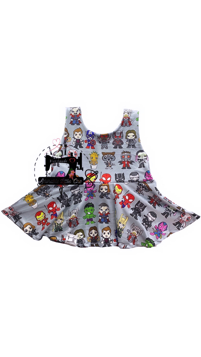 Marvel Peplum Top