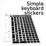 Simple Keyboard Stickers
