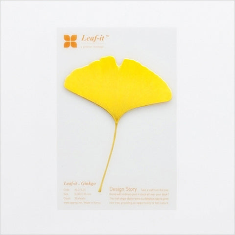 Leaf-it: Sticky Note Pad (Ginkgo Leaf)