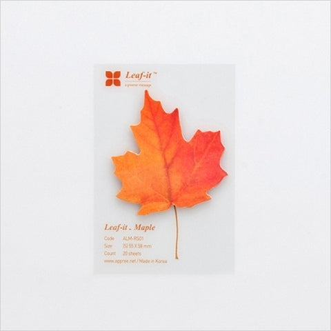 Leaf-it: Sticky Note Pad (Maple Leaf)