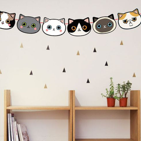 Cat Garland (Cute Korean Home Deco)