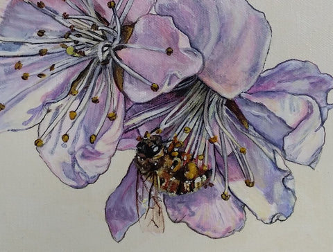 Blossoms and Bee Original Painting
