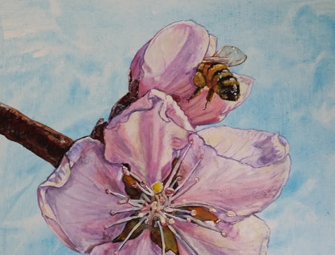 Blossoms and Bee Nichola Gwon Original Painting