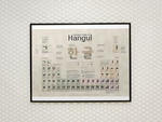 Periodic Table of Hangul (Free Shipping)