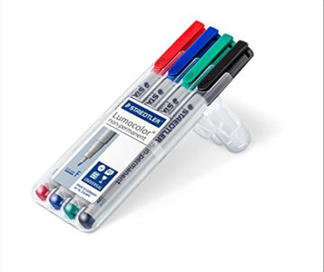 <transcy>Staedler Lumocolor non-permanent Case 4 colored markers, 0.6mm</transcy>