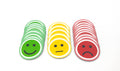 <transcy>Magnetic smiley 5cm. Pack of 25 (10 green, 5 yellow or 10 red)</transcy>