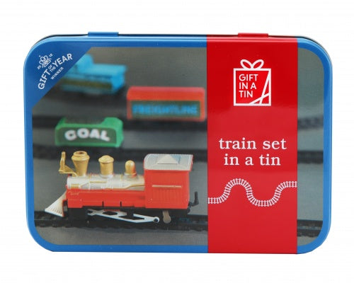 Gifts in a Tin Train Set
