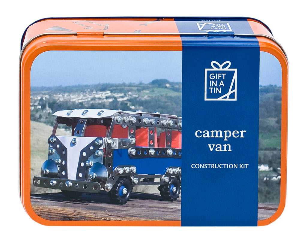 Gifts in a Tin Camper Van Construction Kit