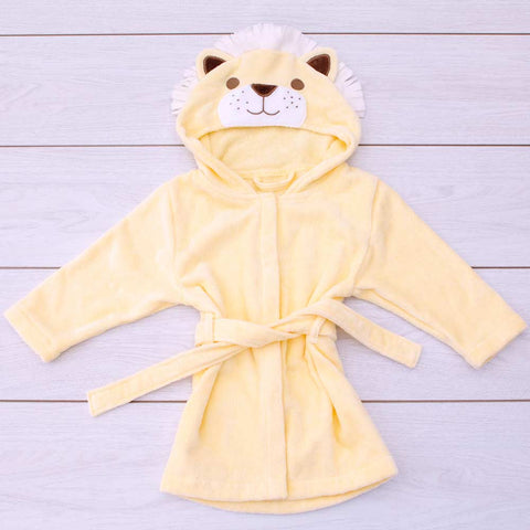Bathing Bunnies Toddler Bath Robe Roary Lion