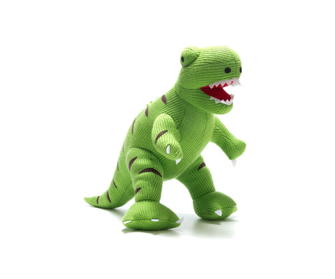 Best Years Knitted Baby Toy Large T Rex Dinosaur