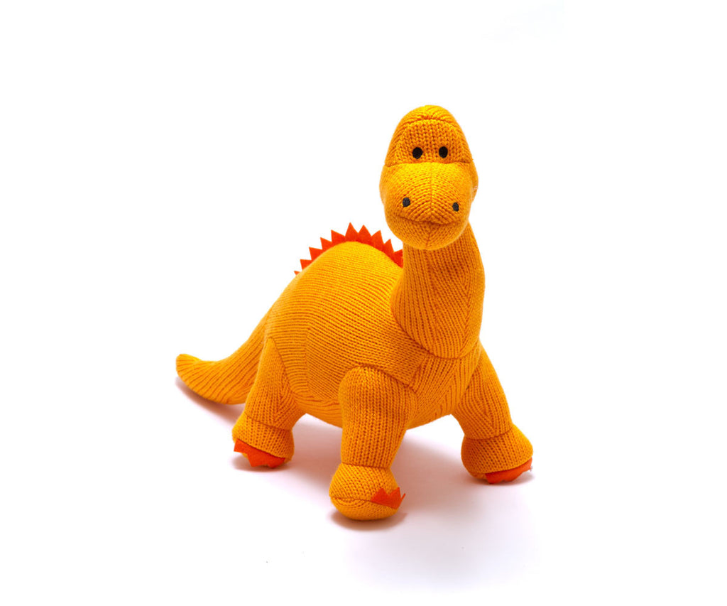 Best Years Knitted Baby Toy Diplodocus Dinosaur