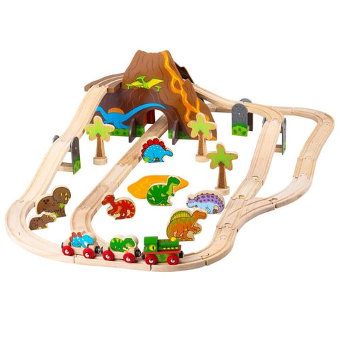 BigJigs Wooden Dinosaur Train Set