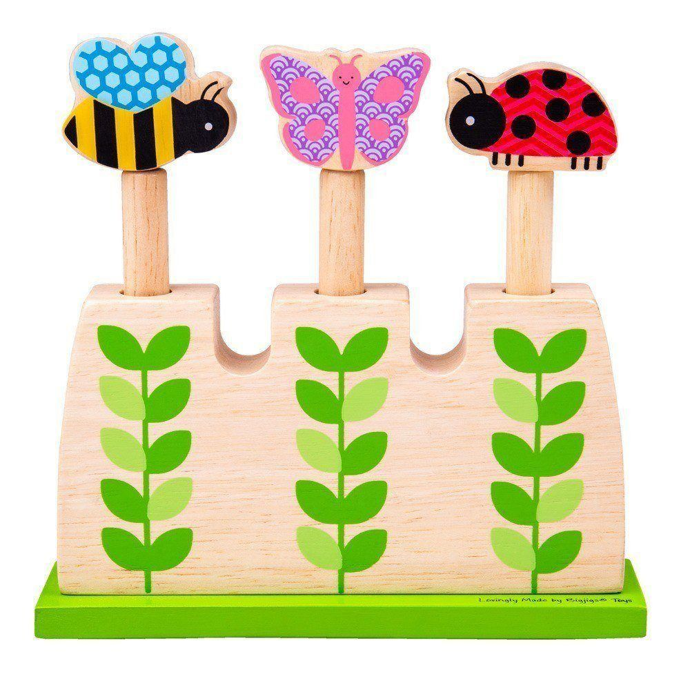 BigJigs Wooden Garden Pop Up