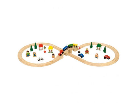 BigJigs Wooden Train Set, Figure of Eight Set