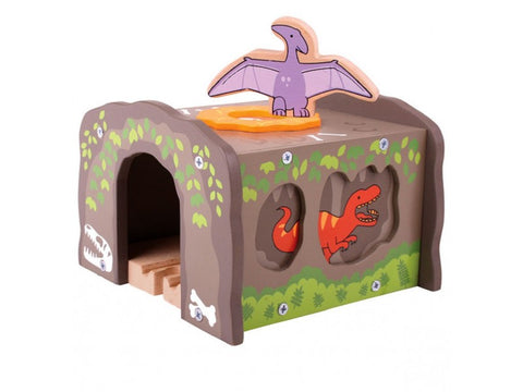 BigJigs Wooden Railway T Rex Tunnel