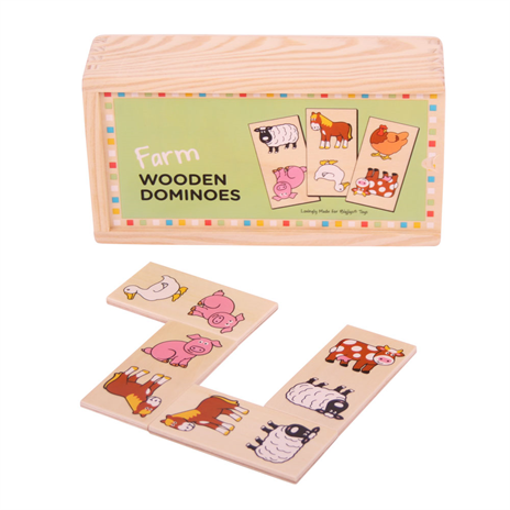 BigJigs Wooden Farm Dominoes