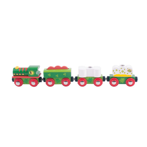 BigJigs Dinosaur Railway Engine and Carriages