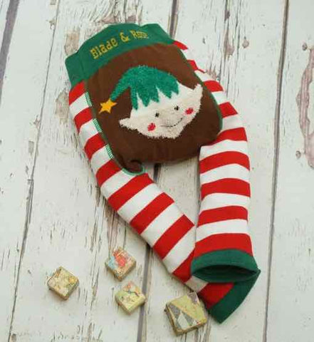 Blade and Rose Baby Fluffy Christmas Leggings, Elf