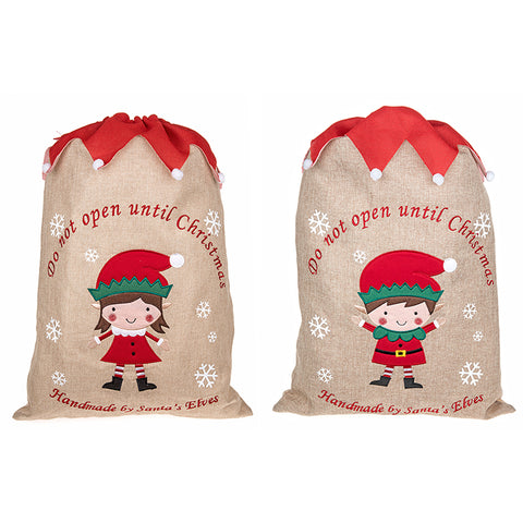 Christmas Elf Sacks Various Designs