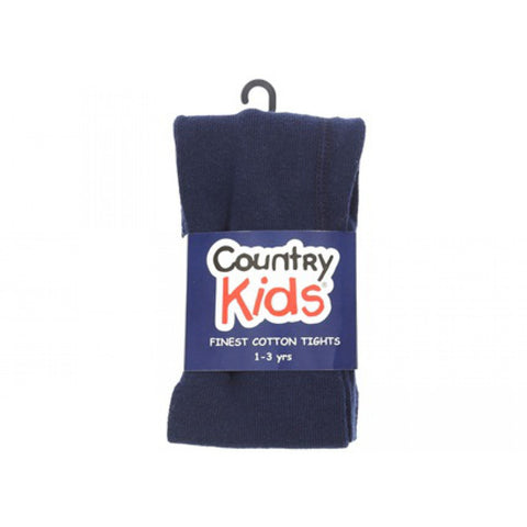 Country Kids Luxury Cotton Tights Navy