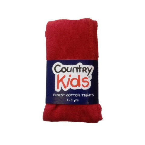Country Kids Luxury Cotton Tights Ruby Red