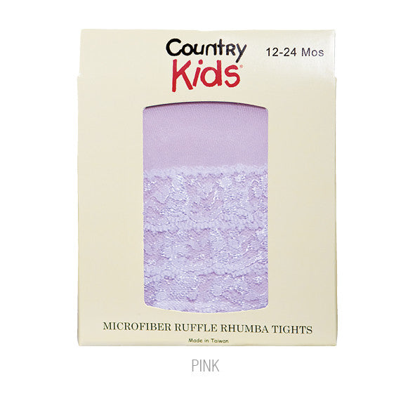 Country Kids Ruffle Rhumba Baby Tights Pink