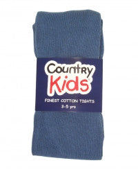 Country Kids Luxury Cotton Tights Slate Blue